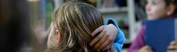 Niños en el aula. Foto: Banco de Imágenes y Sonidos del Intef. Licencia de Creative Commons.