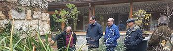 Visita del presidente de la Diputación al Geoparque de Molina de Aragón