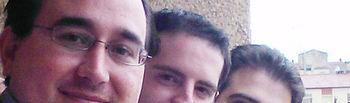 Los alumnos de la UCLM Luis Cañamares, Pedro González Villanueva y Cesar Reneses (de izda a dcha)