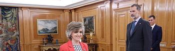 María Luisa Carcedo promete el cargo de ministra de Sanidad, Consumo y Bienestar Social, ante Su Majestad el Rey.