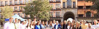 """la secretaria general del PP de Castilla-La Mancha y senadora autonómica, Carolina Agudo, ha asistido al acto de presentación de NNGG nacional """"12 razones por todo lo que nos une a España"""", que ha tenido lugar en la Plaza de Zocodover, en Toledo."""