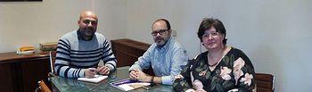 El Secretario General de Podemos en Castilla-La Mancha, José García Molina, se encuentra con representantes del Partido Castellano