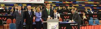 Antonio Román inaugura el Campeonato Mundial de Karate 2013
