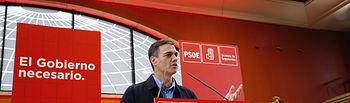 Pedro Sánchez en un acto del PSOE de Cantabria en Santander.