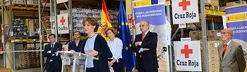 García Tejerina: Los programas de ayuda alimentaria constituyen una labor esencial de atención a los más desfavorecidos. Foto: Ministerio de Agricultura, Alimentación y Medio Ambiente