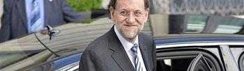 Rajoy a su llegada al Congreso. Foto: Pool Moncloa.