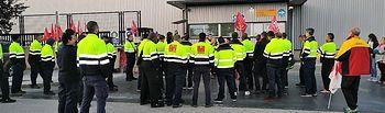 Seguimiento masivo de la huelga DHL Primak Torija
