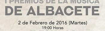 Los I Premios de la Música de Albacete donarán el 70% de la recaudación de la taquilla a UNICEF