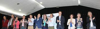 Candidatura del PP en Madrigueras, con asistencia de Paco Núñez y Antonio Martínez.
