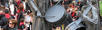 Semana Santa - Tamborada Hellín - Monumento al tambor