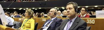 Bruselas, 07 de octubre de 2019.- El presidente de Castilla-La Mancha, Emiliano García-Page, ha participado en la 17ª Semana Europea de las Regiones y Ciudades, que organiza el Comité Europeo de las Regiones que se celebra en Parlamento Europeo en Bruselas. (Fotos: Víctor García / JCCM).