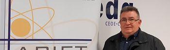 Jesús Núñez como presidente de la Asociación Provincial de Instaladores Electricistas y de Telecomunicaciones de Albacete, APIET.