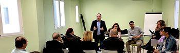 Reunión Emilio Sáez con asociaciones sociosanitarias.