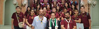 Un grupo de 40 jóvenes scouts procedentes de Cisjordania visita la Diputación provincial