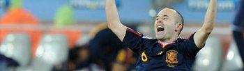 Andrés Iniesta celebra el gol marcado a Holanda en la final del Campeonato del Mundo 2010