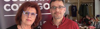 Mª Ángeles García Jiménez y Jorge Uxó, portavoces del Equipo Técnico (Gestora) de Podemos Castilla-La Mancha.