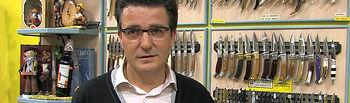 Juan Andrés Barbero, presidente de la Asociación de Cuchillería y Afines (APRECU)