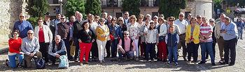 Los aficionados de Almodóvar,a su llegada a la capital castellano-manchega.
