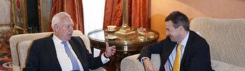 José Manuel García-Margallo y Peter Maurer