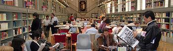 Imagen de archivo de la Biblioteca de Castilla-La Mancha, ubicada en el Alcázar de Toledo.