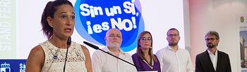 """Presentación de la Campaña """"Sin un sí, ¡Es no! En el Stand de la JCCM en la Feria de Albacete 2019. Foto: Manuel Lozano García / La Cerca"""