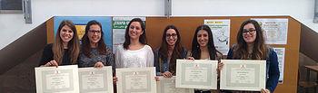 Alumnas de la primera promoción del Máster en Terapia Ocupacional en la Infancia.