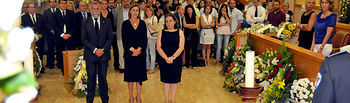 Cospedal asiste al funeral por Gonzalo Lago1. Foto: JCCM.
