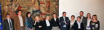 Presidenta Cospedal con Residencias II. Foto: JCCM.