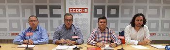 Rueda de prensa conjunta UGT- CCOO por la situación del convenio de Geacam.