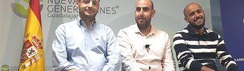 Sergio Sánchez y otros responsales de NNGG Guadalajara