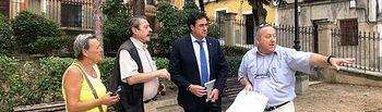 El alcalde visita el Jardinillo de El Salvador, cuyas obras de urbanización están en periodo de licitación.