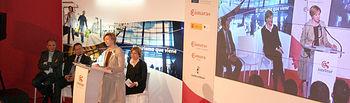 La vicepresidenta y consejera de Economía y Hacienda, María Luisa Araújo, ha participado hoy en Toledo en la inauguración del Foro Intelitur.