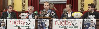Presentación del Torneo Seven Rugby y del partido España Inglaterra, Alfonso Feijoo, presidente de la F.E.R.