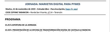 Jornada informativa empresarial sobre marketing digital.