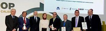 Tejerina en los premios DCOOP. Foto: Ministerio de Agricultura, Alimentación y Medio Ambiente.