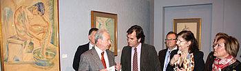 Luis Martínez i asistió en el Museo Provincial de Albacete a la inauguración de la Sala de Exposiciones