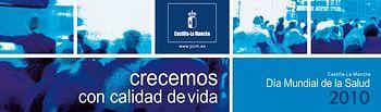 Imagen del lema conmemorativo del Día Mundial de la Salud en Castilla-La Mancha que se celebra mañana.