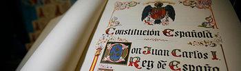 Constitución Española de 1978. Foto de archivo.