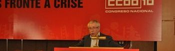 Toxo interviene en el congreso de CCOO de Galicia