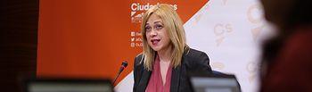 Carmen Picazo, portavoz del grupo parlamentario de Ciudadanos en las Cortes de Castilla-La Mancha.