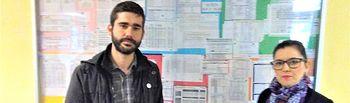 La candidata a las Cortes Regionales por Guadalajara, Ana del Val y el candidato a la Alcaldía de Guadalajara, José Morales.