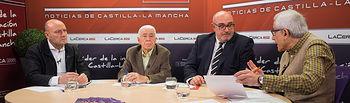 Antonio González Cabrera, médico; José María Roncero, presidente de la UCE en Albacete; Ángel Ramírez, abogado; y Manuel Lozano, director del Grupo Multimedia de Comunicación La Cerca