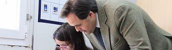 Paco Núñez visita el Centro de Educación Especial María Auxiliadora de Campo de Criptana