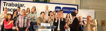 Paco Núñez y Alvaro Nadal respaldan la candidatura de Vicente Aroca en La Roda.