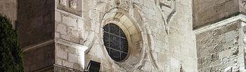 Detalle de la iglesia de San Ginés al atardecer