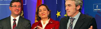 Leandro Esteban, María Luis Soriano y Marcial Marín han dado cuenta de los acuerdos aprobados en Consejo de Gobierno. Foto: JCCM.