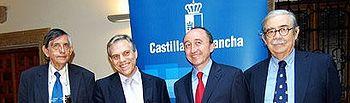 Lamata junto Juan Fontcuberta, Ramón Gálvez y Manuel Doblas