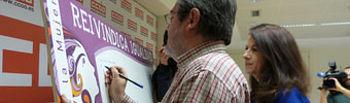 Jesús Gª Villaraco y Raquel Payo escriben sus mensajes