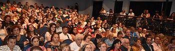 La alcaldesa de Talavera, Tita García Élez, en el IV Encuentro de Lecturas Inclusivas celebrado en el Teatro Victoria.