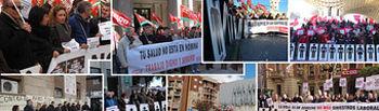 Concentraciones en las ocho provincias andaluzas contra la siniestralidad laboral